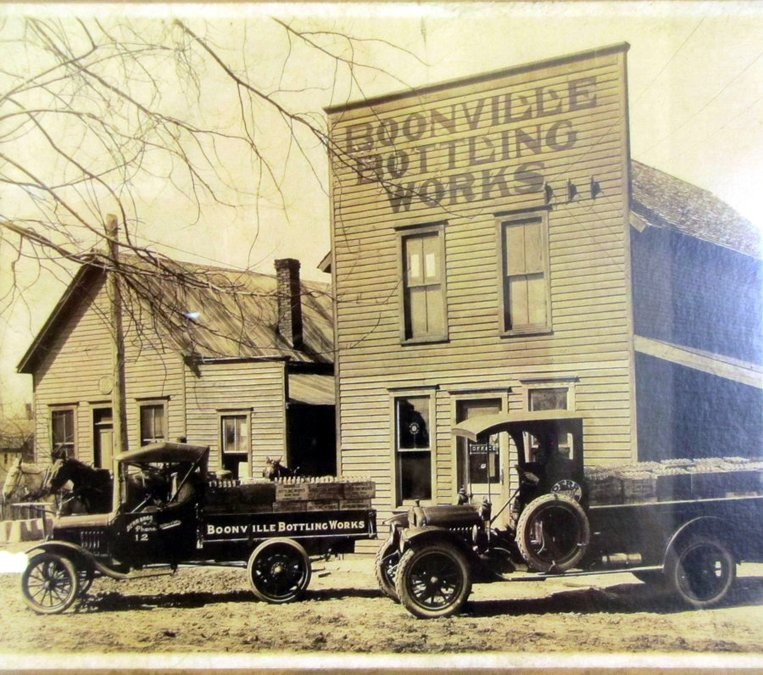 The original Derr family business, Boonville Bottling Works, on 5thStreet in Boonville, Indiana.